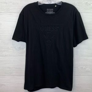 Guess | Black Embroidered Logo T-shirt